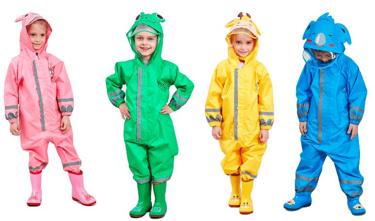 mejor ropa de lluvia para niños barata
